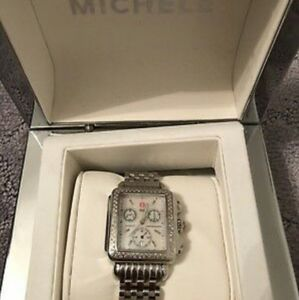 Michele Diamond Bezel Dial Stainless Steel Watch